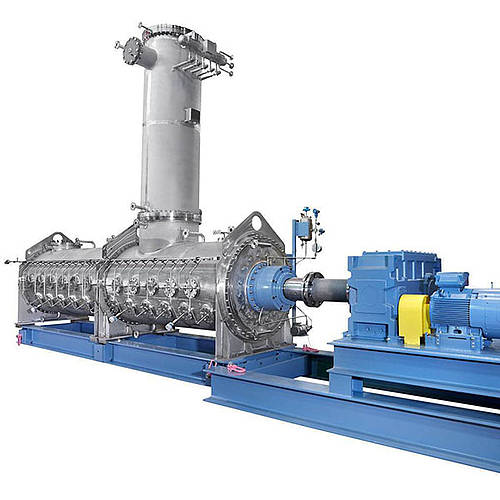 Granulation dryer for continuous operation